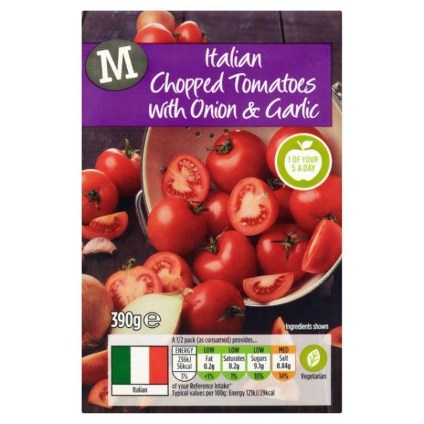 Morrisons Chopped Tomatoes with Onion & Garlic-15116