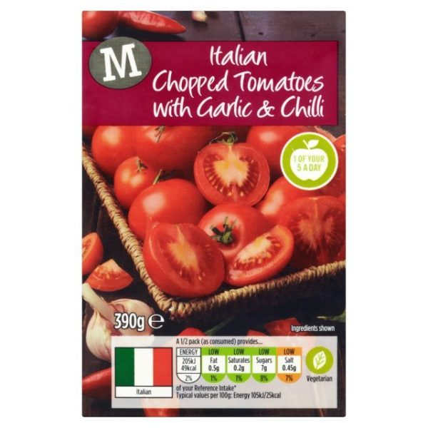Morrisons Chopped Tomatoes with Garlic and Chilli