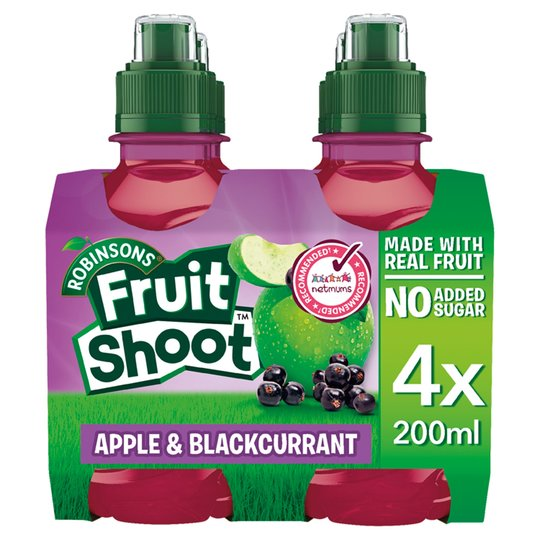Robinsons Fruit Shoots Blackcurrant and Apple No Added Sugar