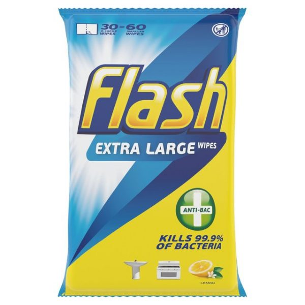 Flash Antibacterial Cleaning Wipes